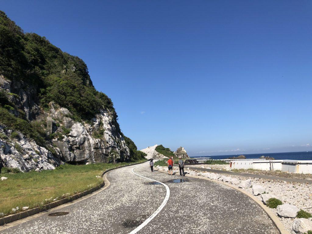 白崎海洋公園の道1