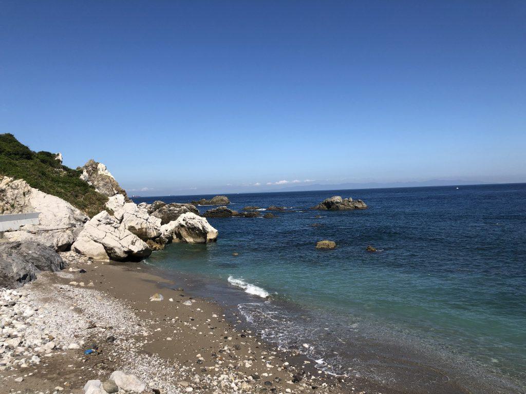 白崎海洋公園から見える海