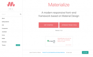 Materialize公式サイト